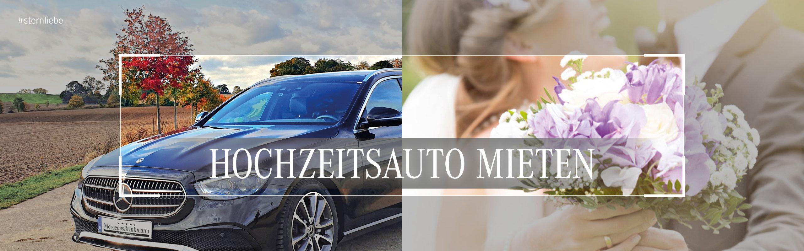 Banner-Hochzeitsautomieten bei mercedes brinkmann